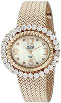 Burgi Women's BUR075RG Mother-Of-Pearl Diamond Mesh Bracelet Watch