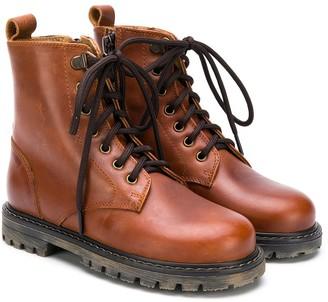 Pépé Lace-Up Combat Boots