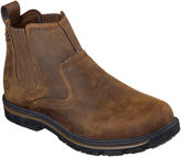 Skechers Dorton Mens Leather Slip-On Boots