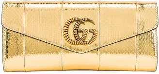 Gucci Broadway Evening Clutch in Gold | FWRD