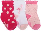 Robeez Pink Polka Dot Three-Pair Socks Set