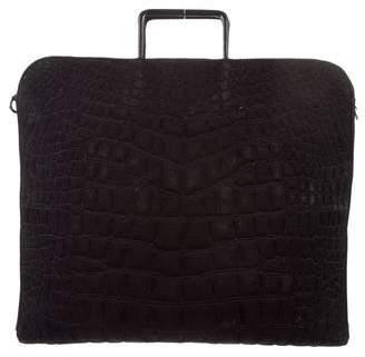 Chanel Jersey Croc Briefcase