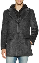 7 For All Mankind Wool Hooded Coat with Quilted Lining