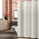 Veratex The York Collection Contemporary Luxury Linen Fabric Unlined Bathroom Shower Curtain, Pearl