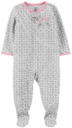 Carter's Toddler Girl Cat Face Footed Pajamas