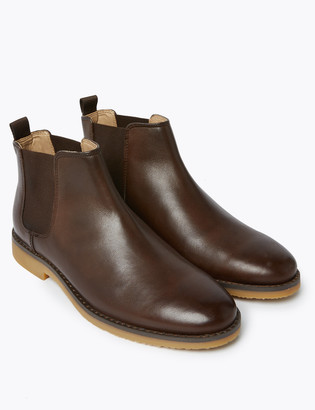 Marks and Spencer Kids' Leather Freshfeet Chelsea Boots (13 Small - 7 Large)