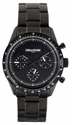 Zadig & Voltaire Unisex-Adult Analogue Classic Quartz Watch with Stainless Steel Strap ZVM301