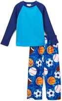 Komar Kids Blue Sports Pajama Set - Boys