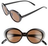 BP Women's 48Mm Oval Cat Eye Sunglasses - Black