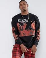 Asos Metallica Oversized Band Long Sleeve T-shirt With Lava Print