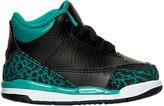 Nike Girls' Toddler Jordan Retro 3 Basketball Shoes