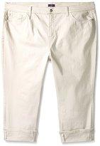 NYDJ Women's Plus-Size Dayla Wide Cuffed Capri Jeans