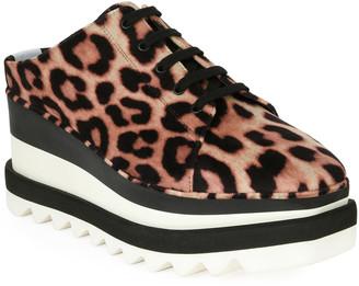 Stella McCartney Elyse Leopard-Print Platform Sneaker Mule