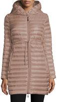 Moncler Barbel Hooded Down-Fill Knee-Length Jacket