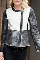 Donna Salyers Leather & Sherpa Jacket