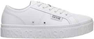 Versace Logo Embossed Sneakers