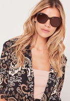 Missguided Metal Frame Sunglasses Copper