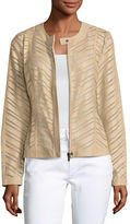 Neiman Marcus Striped Leather Jacket
