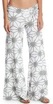 Letarte Wide-Leg Printed Beach Pants
