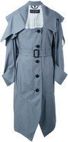 Burberry belted trench coat - women - Cotton/Cupro/Viscose - 6