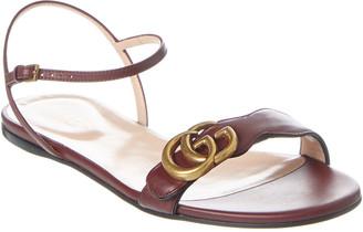Gucci Interlocking G Leather Sandal