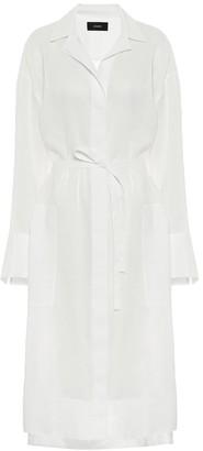 Joseph Belted voile shirt dress