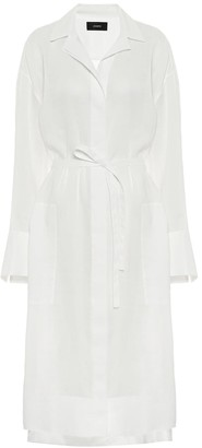 Joseph Daga belted voile shirt dress