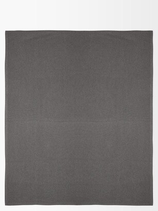 Brunello Cucinelli Ribbed-knit Cashmere Blanket - Grey