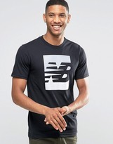 New Balance Ss Logo T-shirt In Black Mt63514_bk