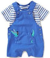 Joules Baby Boys Newborn-12 Months Wade Striped Tee & Alligator Shortall