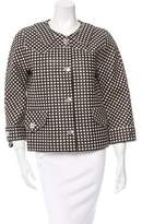 Marc Jacobs Gingham Print Leather Jacket