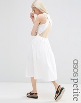 Asos Midi Skater Dress with Cross Back