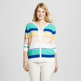 Merona Women's Plus Size Favorite Cardigan Multi Stripe