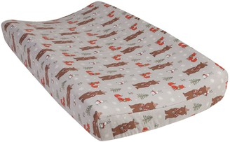 Trend Lab Cup of Cocoa Bears Deluxe Flannel Changing Pad Cover