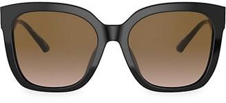 Tory Burch 56MM Tortoiseshell Square Sunglasses