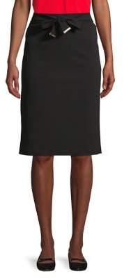 Calvin Klein Tie-Waist Pencil Skirt