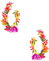 Mercedes Salazar Candongas Pequenas Flores Earrings in Yellow.