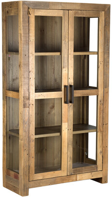 Classic Home By Kosas Home Norman Reclaimed Pine 2 Door Curio Cabinet