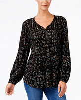 Style&Co. Style & Co Studded Peasant Top, Created for Macy's