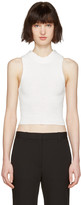3.1 Phillip Lim White Crochet Back Top