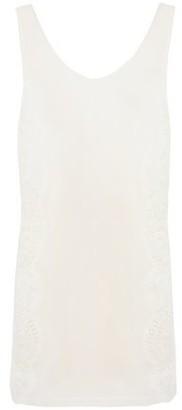 La Perla Lace-trimmed Silk-blend Crepe De Chine Tank