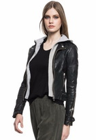 LaMarque Collection Anna Leather Jacket With Removable Hood
