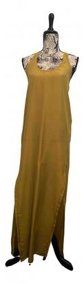 Damir Doma Khaki Silk Dresses