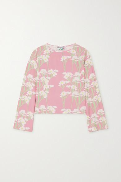 MONICA Bernadette BERNADETTE Floral-print Stretch-jersey Top - Pink