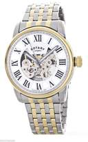Rotary Men's Skeleton Dial Two tone Stainless Steel Bracelet Watch GB00401/21