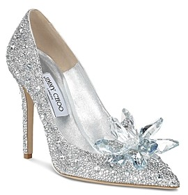 Jimmy Choo Women's Avril 100 Crystal-Covered Pointy Toe Pumps