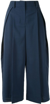 Sacai Side-Stripe Straight-Leg Culottes