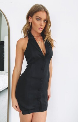 Bb Exclusive All About Confidence Sleeveless Blazer Dress Black