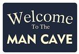 """Nicole's Doormats 23.6""""(L) x 15.7""""(W) Humor Funny Saying & Quotes:Welcome to the Man Cave Entrance Indoor/Outdoor Floor Mat Doormat"""