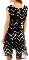JCPenney Love Reigns Chevron Print High-Low Dress
